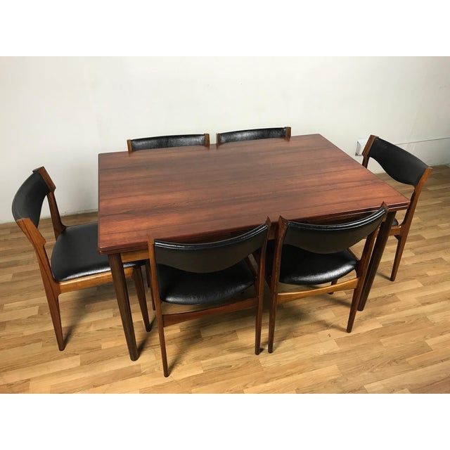 Mid-Century Danish Rosewood Dining Set For Sale - Image 11 of 11