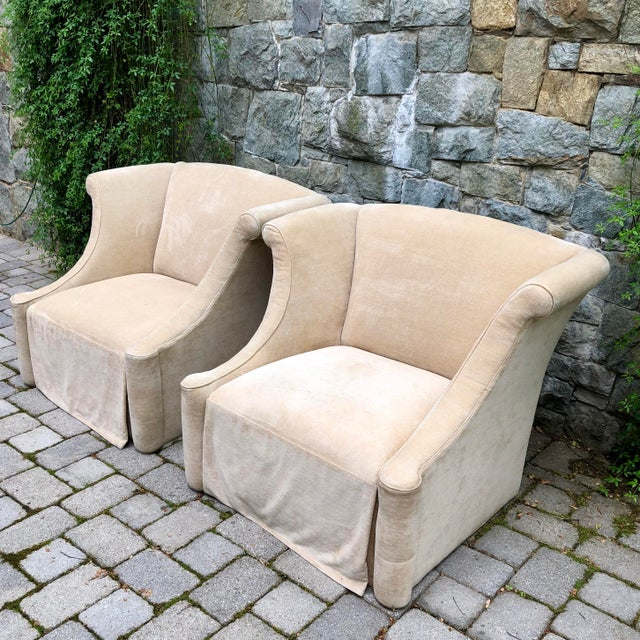 Modern Upholstered Lounge Chairs- A Pair For Sale - Image 11 of 12