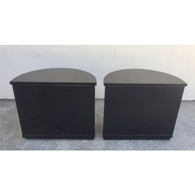 Henredon Henredon Black Lacquered Side Tables - A Pair For Sale - Image 4 of 7