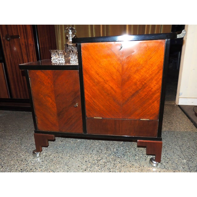 Art Deco Rolling Bar Cart For Sale - Image 4 of 10