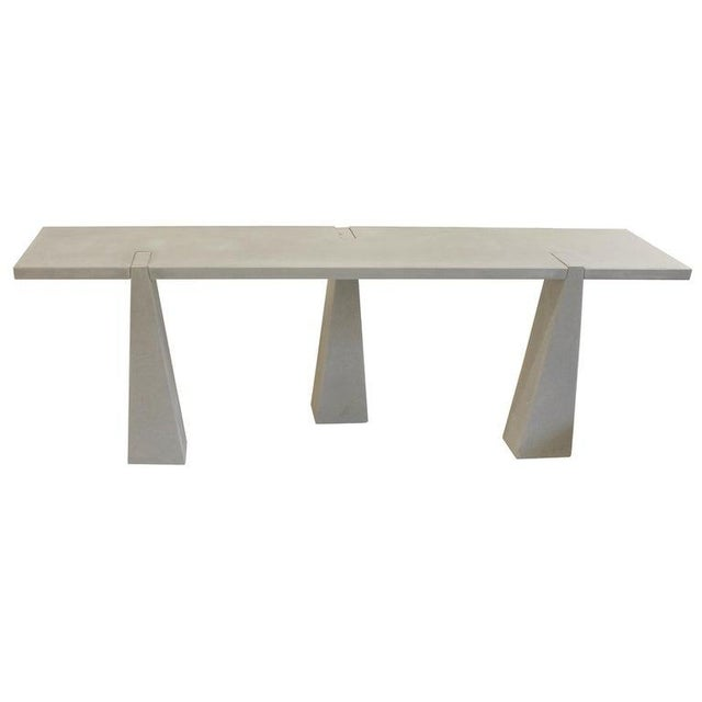 Stone Pietra Serena Stone Console by Angelo Mangiarotti for Skipper, Italy, 1978 For Sale - Image 7 of 7