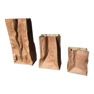 1970s Tapio Wirkkala Porcelain Bags by Rosenthal - Set of 3 For Sale