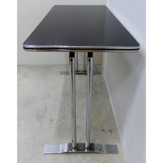 Art Deco Art Deco Streamline Chrome Writing Table or Console Table For Sale - Image 3 of 7