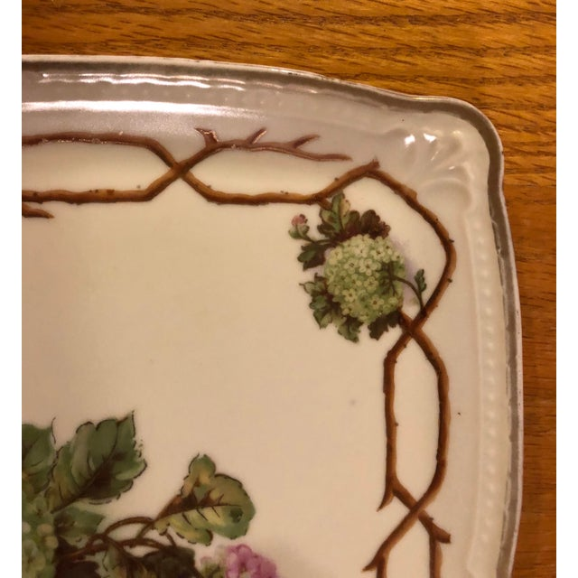 Shabby Chic Mid 20th Century Vintage German Hand Painted China Platter For Sale - Image 3 of 7