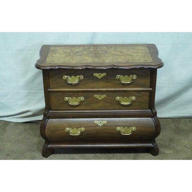Baker Furniture Burl Wood & Walnut Bombe Chest - Image 2 of 10