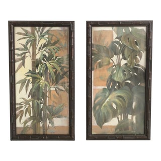 Vintage Tropical Prints, Framed - a Pair For Sale