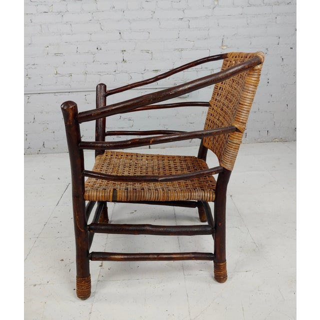 Brown Antique 1920s Bentwood Settee and Chairs -Salon - Set of 3 For Sale - Image 8 of 12