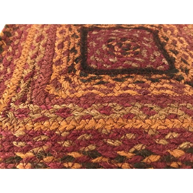 20th Century Boho Chic Jute Fiber Table Mat For Sale In Dallas - Image 6 of 7