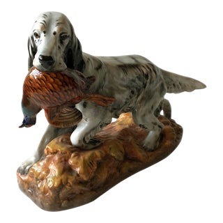Vintage Royal Doulton English Setter With Peasant Figurine For Sale