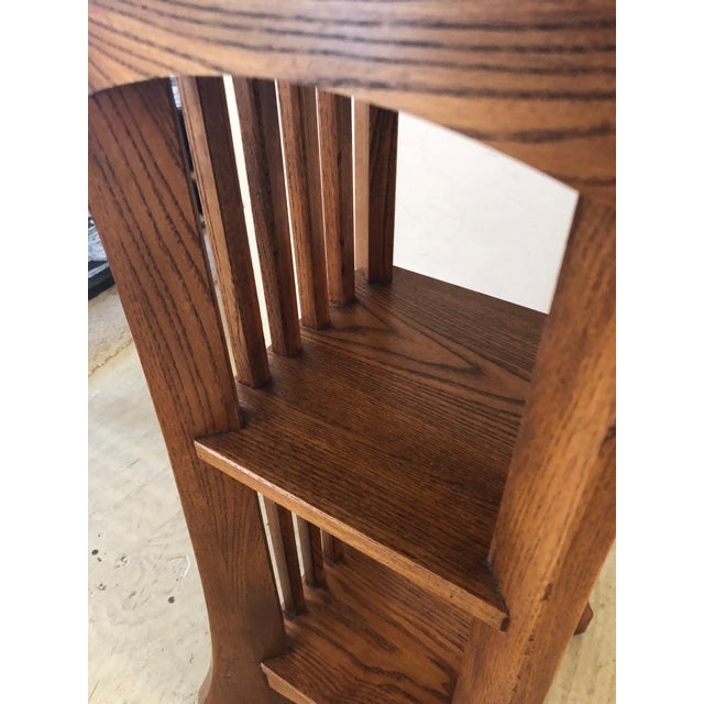 1950s Arts & Crafts Mission Style Side Table For Sale In Philadelphia - Image 6 of 9
