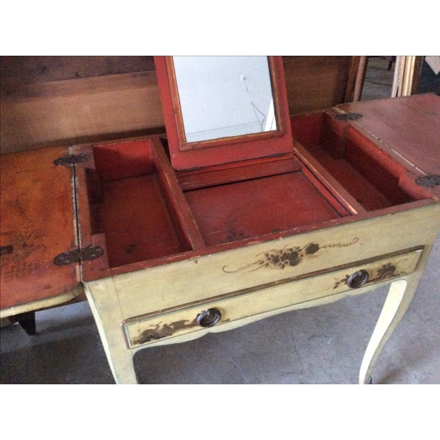 Shabby Chic Vintage Chinoiserie Vanity - Image 4 of 9