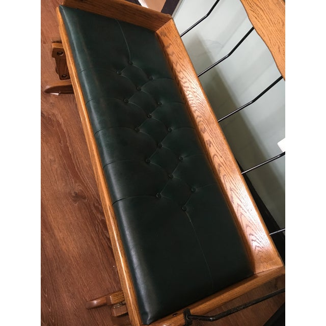 Antique Carriage Seat Glider Bench For Sale - Image 4 of 13