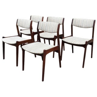 Eric Buck Danish Modern Rosewood Dining Chairs - Set of 5 For Sale