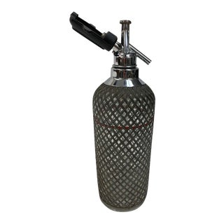 Soda Siphon Seltzer Bottle With Wire Mesh Metal For Sale