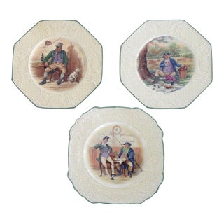 1950s Wedgwood Dickens Plates - Set of 3 For Sale