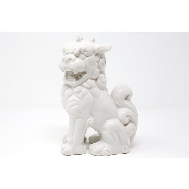 A vintage, blanc de chine ceramic foo lion or dog. Good vintage condition; no chips or cracks.