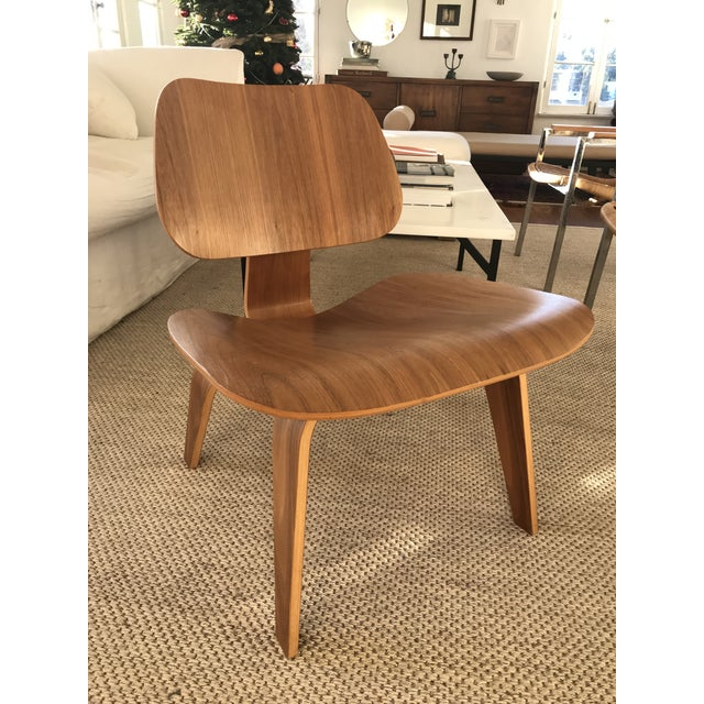 Wood Modern Lcw Eames Molded Plywood Chair For Sale - Image 7 of 7