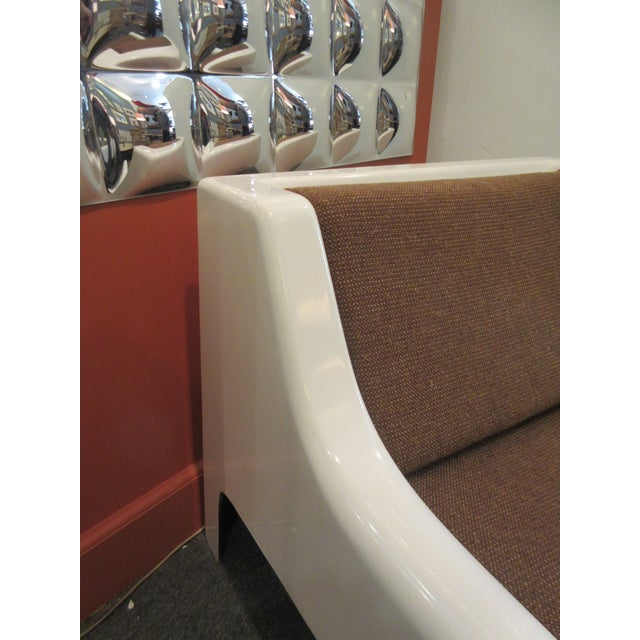 Cappellini Sofa and Chair set in Painted White Fiberglass - Image 7 of 10