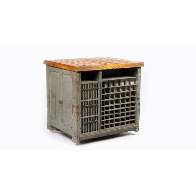1920s Industrial Hamilton Flat File Printers Cabinet For Sale - Image 11 of 11