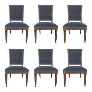 Drexel Heritage Modern Gray Dining Chairs - Set of 6