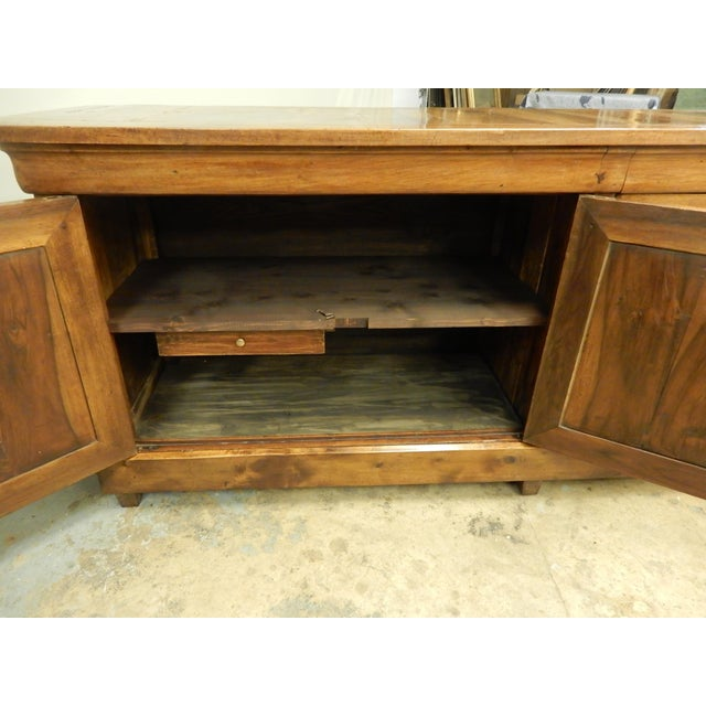 Brown French Walnut 19th Century Enfilade For Sale - Image 8 of 12