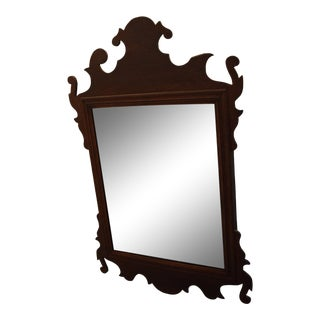 Chippendale Mahogany Wall Mirror For Sale