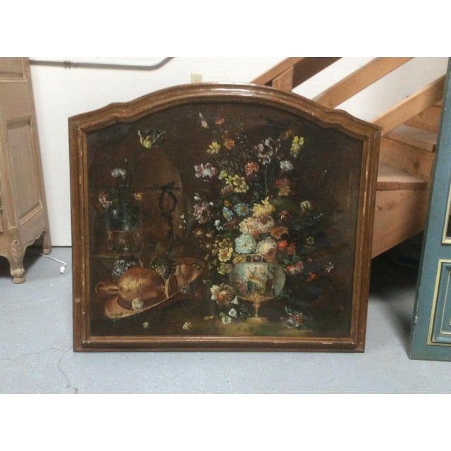 Decorative Italian Still Life Floral Painting B For Sale - Image 9 of 11