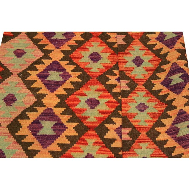 Kilim Arya Nephele Rust/Purple Wool Rug -3'4 X 5'0 For Sale In New York - Image 6 of 8