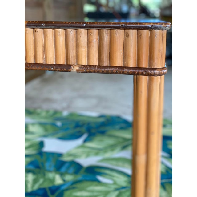 Mid-Century Modern Vintage Split Bamboo Table For Sale - Image 3 of 13