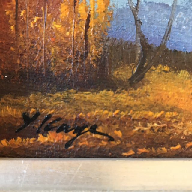 Vintage Landscape Mountain Painting Signed For Sale - Image 4 of 8
