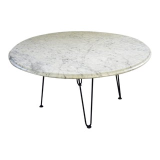 1960s Italian Mid-Century Modern White Marble Coffee Table For Sale
