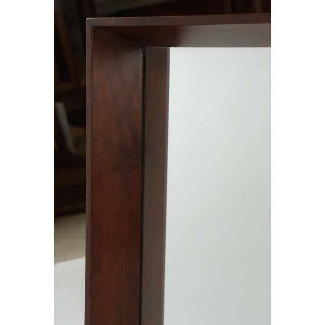 Art Deco Gilbert Rohde for Herman Miller Square Heavy Walnut Frame 1940s Wall Mirror For Sale - Image 3 of 10