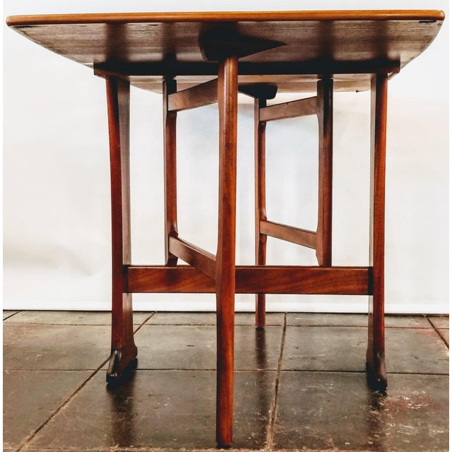 Mid-Century Scottish Modern Style Drop Leaf Table by Legate Scotland For Sale In San Diego - Image 6 of 11