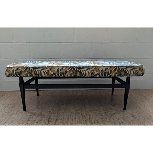 Admirable Mid Century Floating Upholstered Bench Bralicious Painted Fabric Chair Ideas Braliciousco