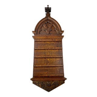 Large 1880s Victorian Gothic Hymn Board For Sale