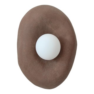 Brown Clay Blob Sconce by Eny Lee Parker For Sale