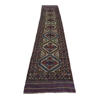 Handmade Afghan Tribal Runner - 2′8″ × 13′2″