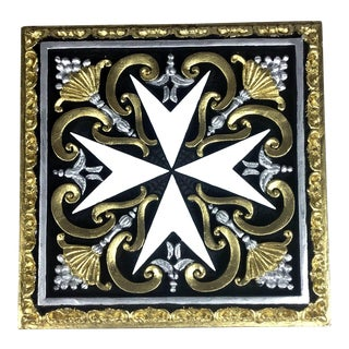 Maltese Ceramic Wall Plaque For Sale