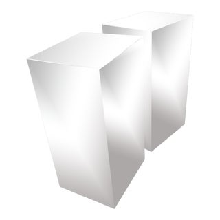 1970s Vintage Polished Stainless Art Pedestals-a Pair For Sale