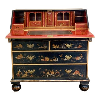 1980's Vintage Signed Maitland-Smith Chinoiserie Escritoire For Sale