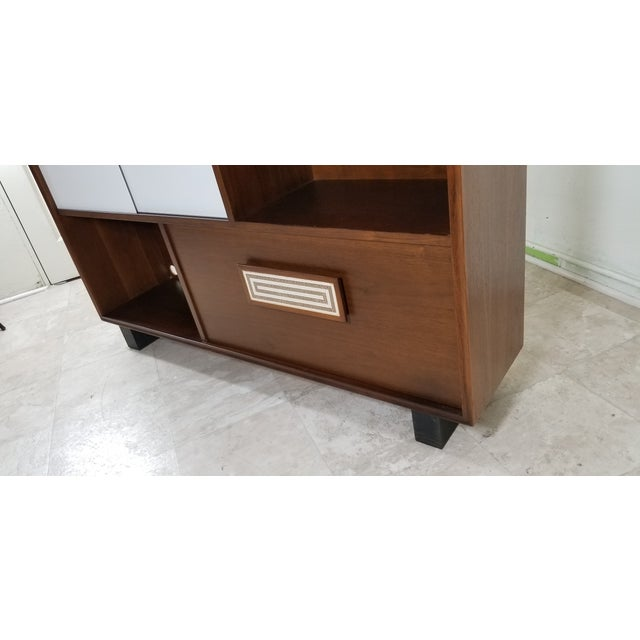 Wood 1950s Modern Style Cabinet For Sale - Image 7 of 13
