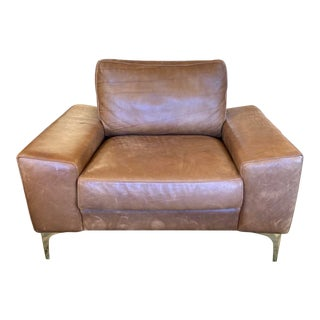 Industry West Furniture Fable Leather Arm Chair For Sale