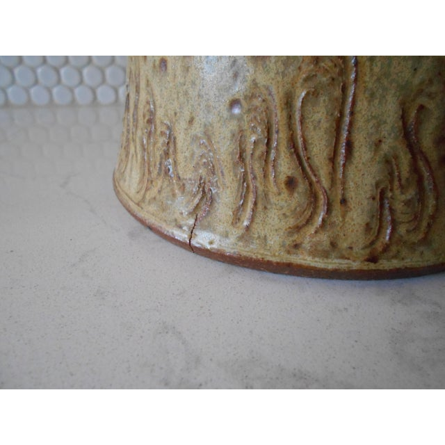 Covered Pottery Canister - Image 5 of 6