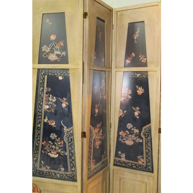 Late 19th Century Traditional Custom Made Panel Screen For Sale - Image 5 of 6