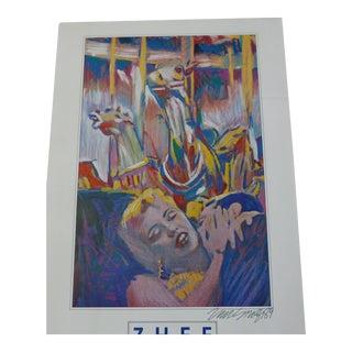 Rare Signed Zhee Singer 1989 Poster: Marilyn Monroe Pop Art