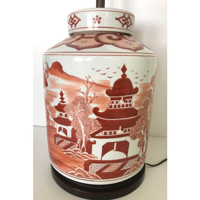 Mid 20th Century Norman Perry Chinoiserie Ginger Jar Style Lamp For Sale - Image 5 of 13