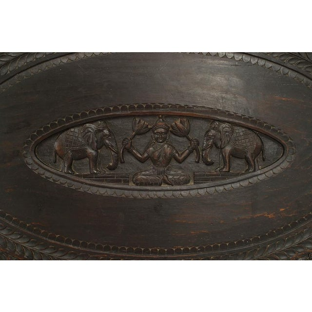 Asian Burmese Style Ebony Low Center Table For Sale In New York - Image 6 of 12