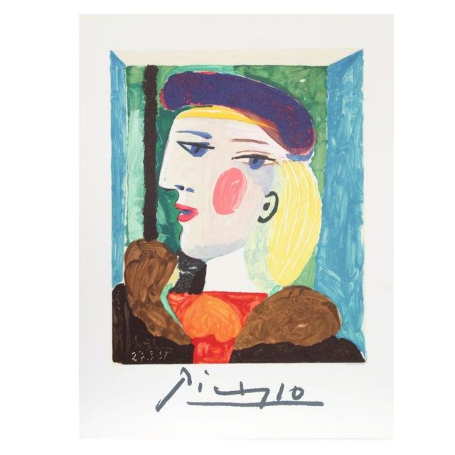 Pablo Picasso - Femme Profile Estate Lithograph - Image 1 of 2
