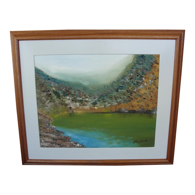 Vintage Harbor Impressionist Oil on Canvas Painting For Sale