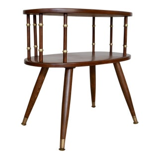 1950s Mid-Century Modern Mahogany Nightstand or Side Table For Sale